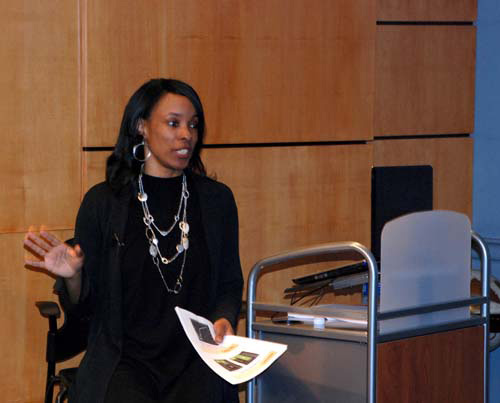 Sakina  speaking at UVA